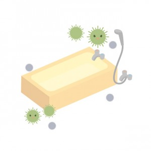 お風呂のカビ菌