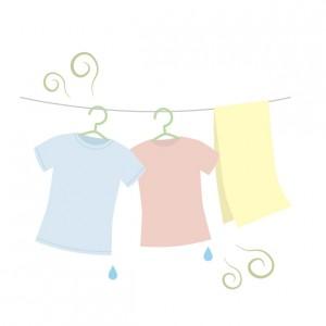 臭い漂う洗濯物