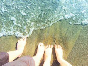 砂浜のキャンプ場