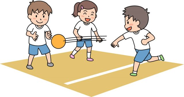 ドッジボールの練習