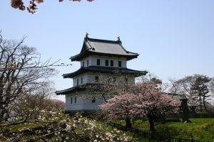 松前公園の桜 松前城