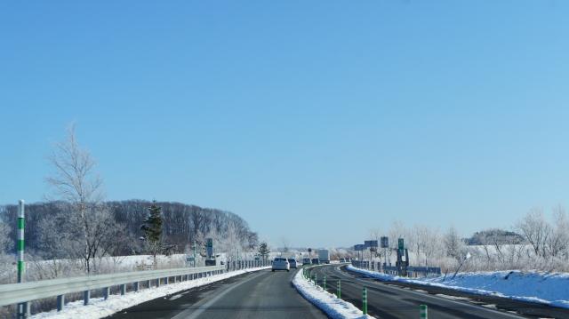 冬の道東道