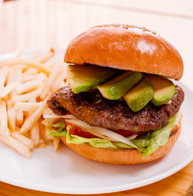 アボカドのハンバーガー