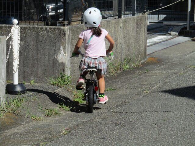 子供と自転車とヘルメット